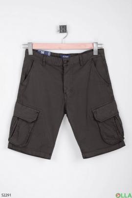 Мужские серые шорты