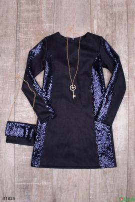 Платье на праздник, с декором из блесток