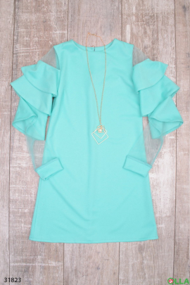Платье с дизайнерским рукавом