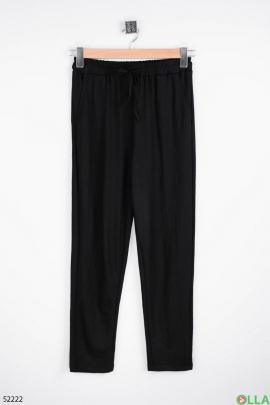 Женские чёрные  брюки