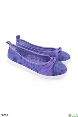 Женские фиолетовые балетки