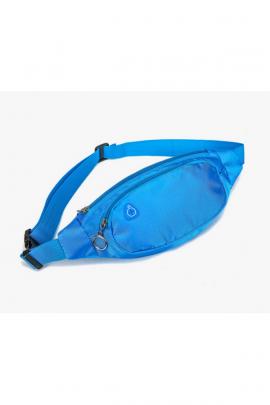 Мужская голубая поясная сумка