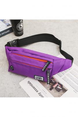 Мужская фиолетовая поясная сумка