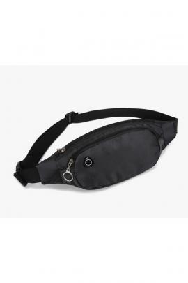 Мужская чёрная поясная сумка