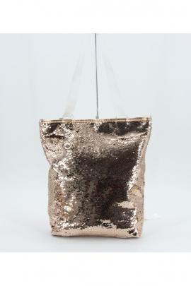 Женская золотистая сумка