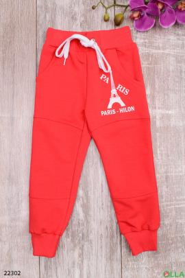 Спортивные штаны на резинке с манжетами