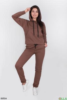 Женский коричневый спортивный костюм