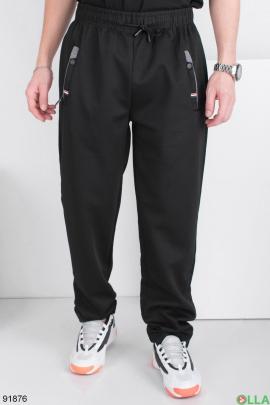 Мужские спортивные черные брюки
