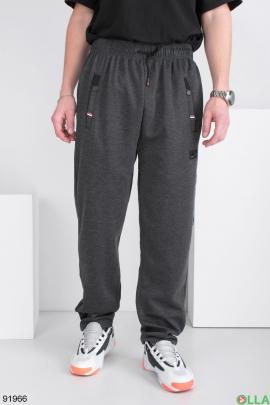 Мужские спортивные темно-серые брюки