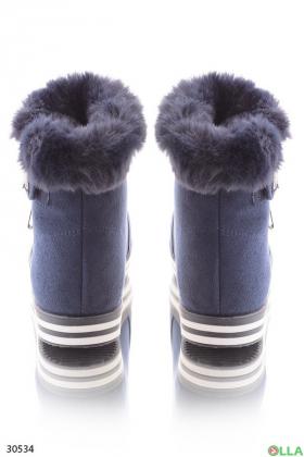 Ботинки с меховой отделкой