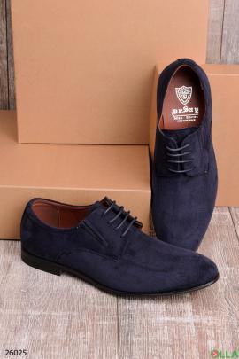 Мужские туфли синего цвета