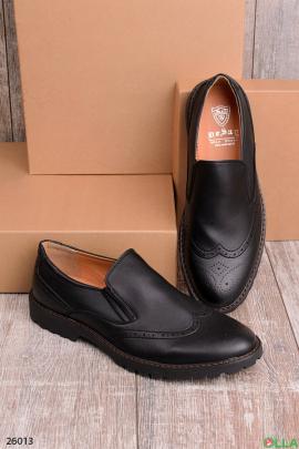 Мужские туфли оксфорды без шнуровки