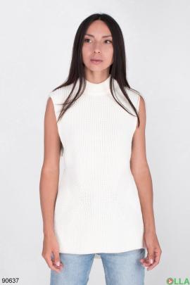 Женский белый жилет