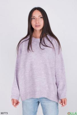 Женский лиловый свитер