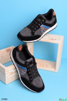 Мужские кроссовки черного цвета