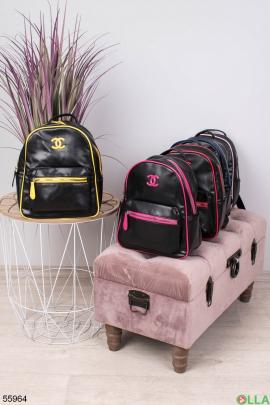 Женский Черно-желтый рюкзак