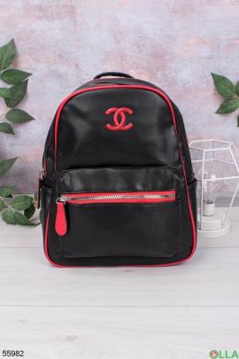 Женский Черно-красный рюкзак