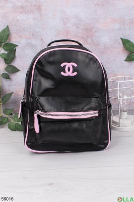 Женский Черно-лиловый рюкзак