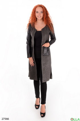 Пальто темно-серого цвета