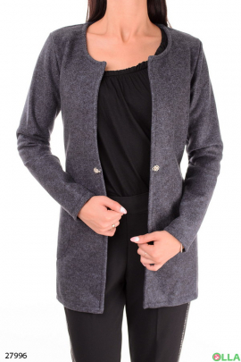Пальто серого цвета