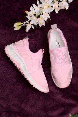 Женские кроссовки с имитацией шнуровки