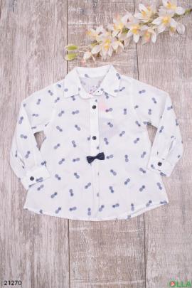 Белая рубашка с бантиком