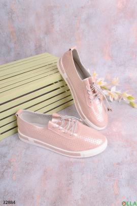 Кеды бледно-розового  цвета