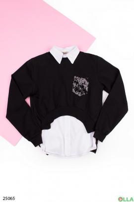 Рубашка-обманка для школы