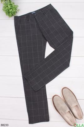 Мужские брюки в клетку