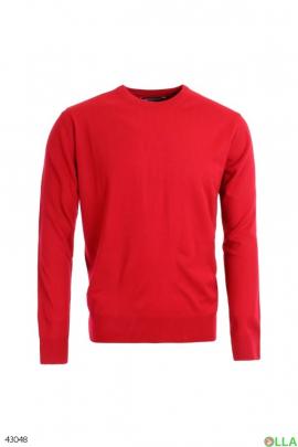 Мужской коралловый свитер