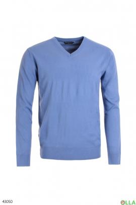 Мужской ярко-синий свитер