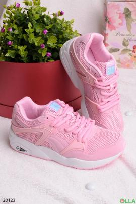 Женские  кроссовки розового цвета