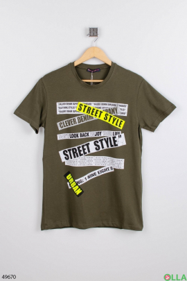 Мужская зелёная футболка