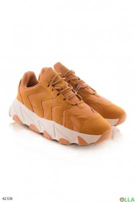 Мужские светло-коричневые кроссовки