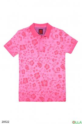 Мужская футболка-поло с рисунком