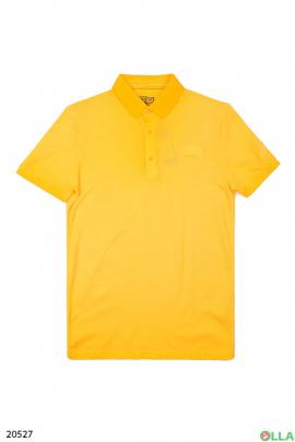 Мужская футболка-поло желтого цвета
