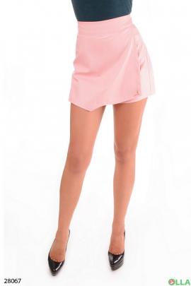 Шорты-юбка розового цвета