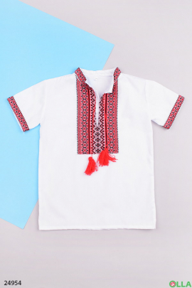 Белая рубашка-вышиванка