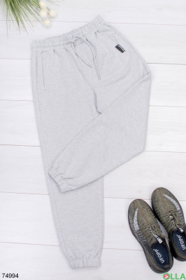 Мужские серые спортивные брюки