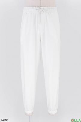 Мужские белые спортивные брюки