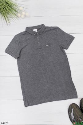 Мужская серая футболка поло