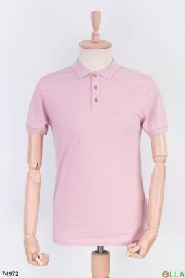 Мужская розовая футболка поло