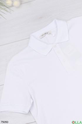 Мужская белая футболка поло
