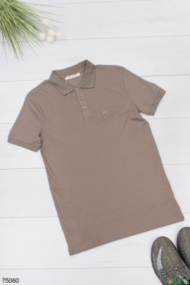 Мужская футболка поло цвета хаки