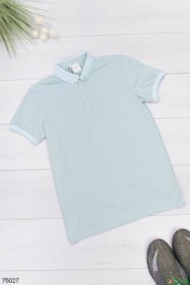 Мужская бирюзовая футболка поло