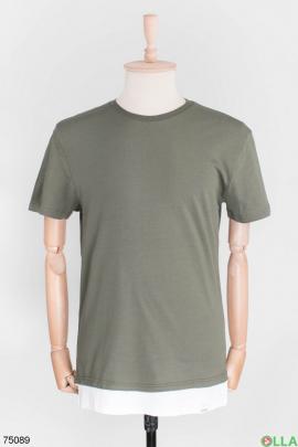 Мужская футболка цвета хаки