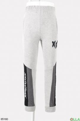 Мужские спортивные серые брюки