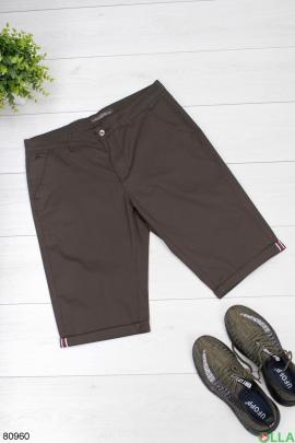 Мужские шорты цвета хаки