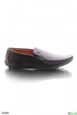 Мужские черные туфли без шнуровки