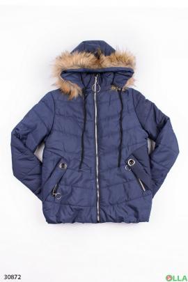 Женская куртка синего цвета